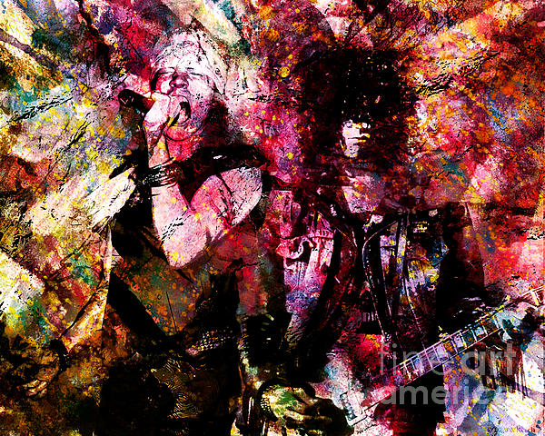 Axl And Slash - Appetite For Your Illusion Painting  - Axl And Slash - Appetite For Your Illusion Fine Art Print