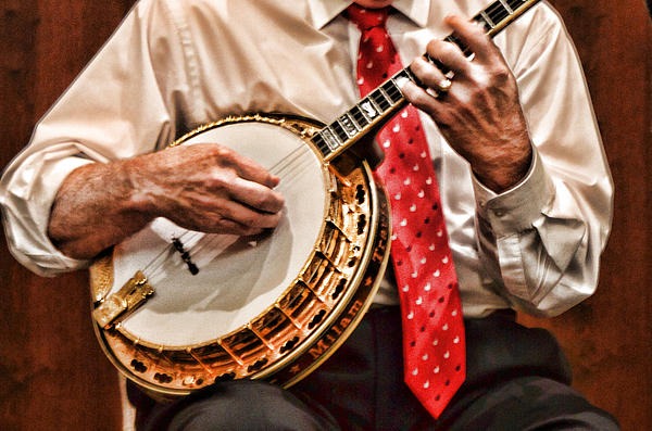 Music Photograph - Banjo In Arms by Linda Phelps