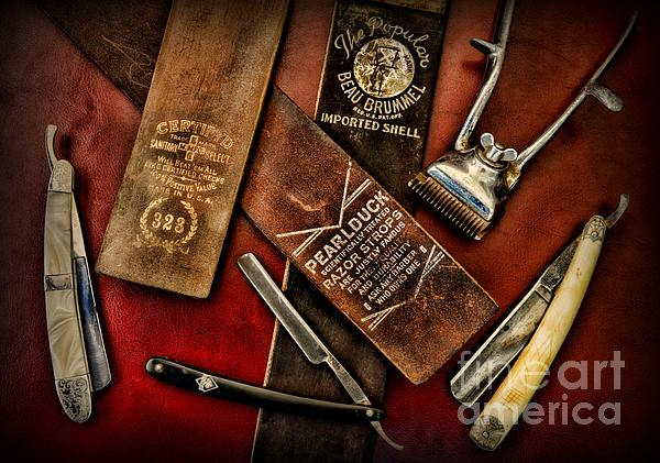 Barber - Vintage Barber Photograph - Barber - Barber Tools Of The Trade by Paul Ward