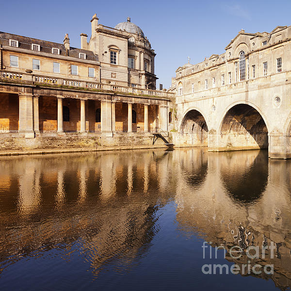 Architecture Photograph - Bath Pulteney Bridge And Colonnade Bath by Colin and Linda McKie