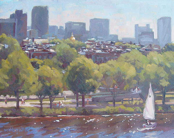 Boston Painting - Beacon Hill by Dianne Panarelli Miller