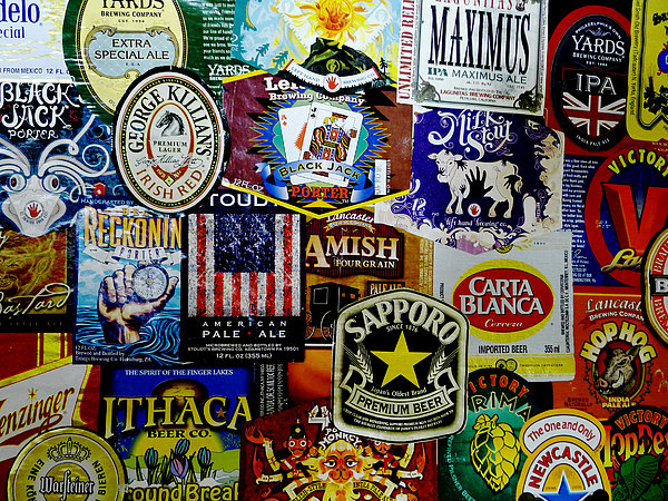 Richard Reeve Photograph - Beer Labels by Richard Reeve