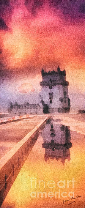 Belem Tower Painting - Belem Tower by Mo T