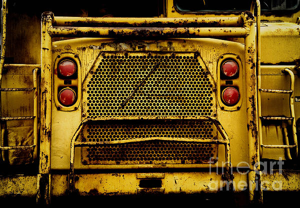 Bulldozer Photograph - Big Dump Truck Grille by Amy Cicconi