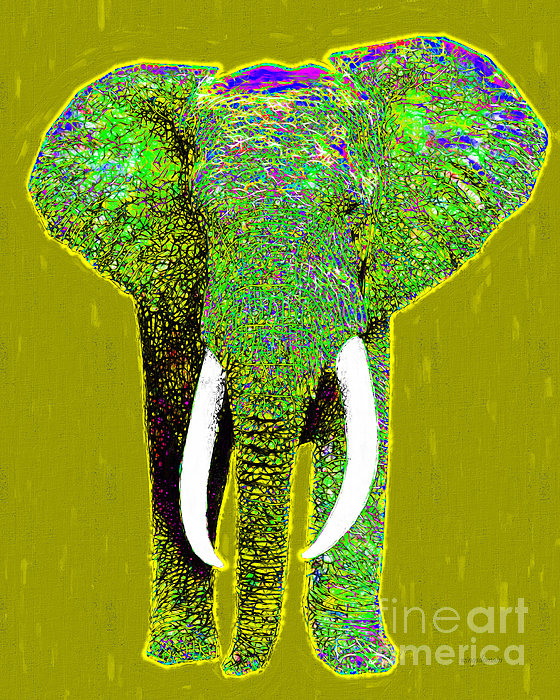 Elephant Photograph - Big Elephant 20130201p60 by Wingsdomain Art and Photography