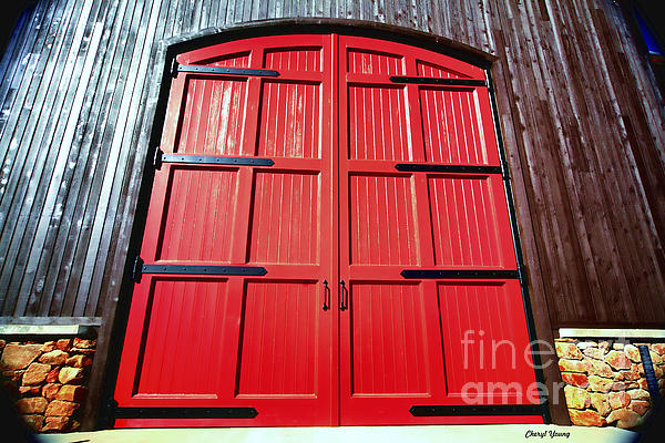 Doors Photograph - Big Red Doors by Cheryl Young