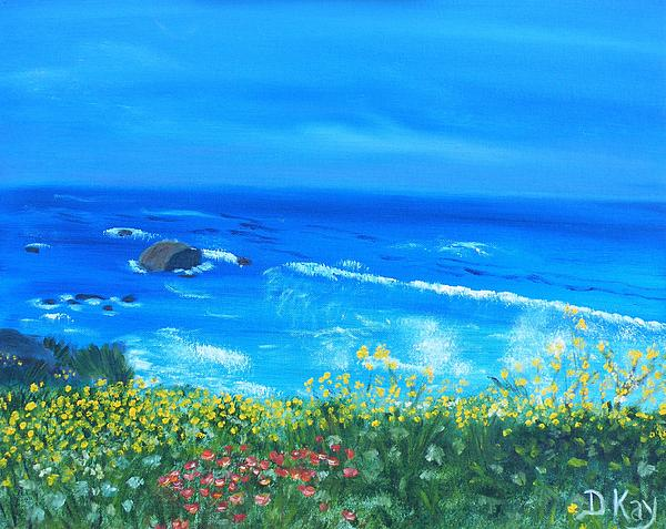 Big Sur Ca Coastline Painting  - Big Sur Ca Coastline Fine Art Print