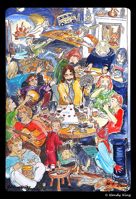 Party Painting - Birthday by Nandy King