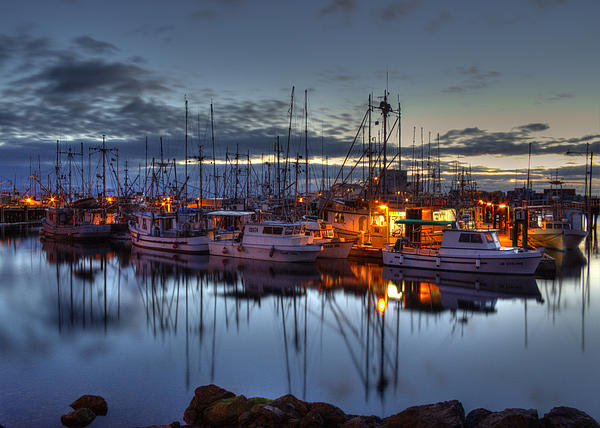 Water Photograph - Blue Hour by Randy Hall