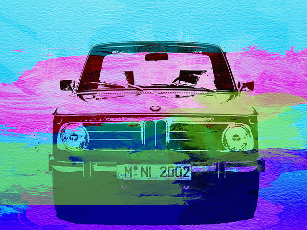Bmw 2002 Photograph - Bmw 2002 Front Watercolor 1 by Naxart Studio