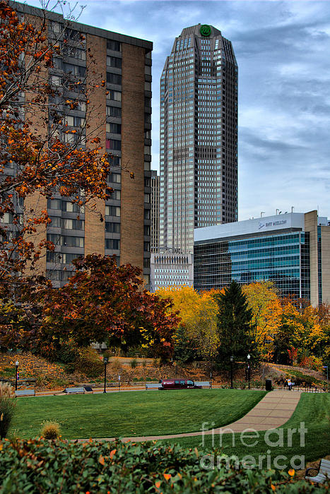 Bank Of New York Photograph - Bny Mellon From Duquesne University Campus Hdr by Amy Cicconi