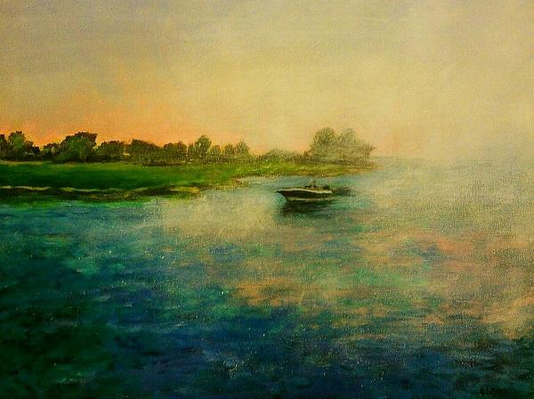 Heather  Gillmer - Boat Heading Back To The Inlet