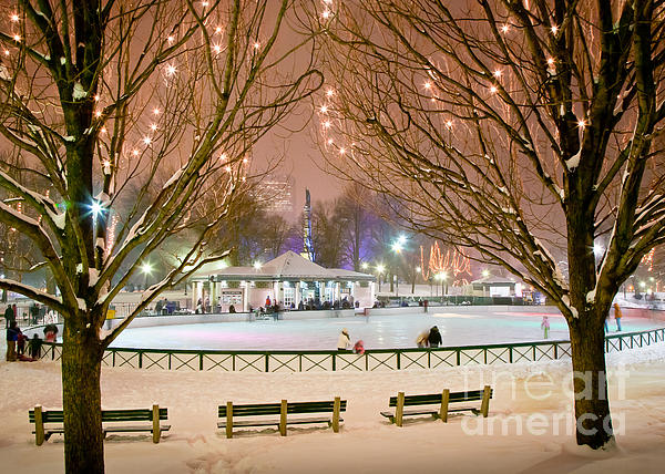 Boston New Year Skate Photograph  - Boston New Year Skate Fine Art Print