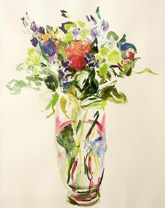 Still Lives Of Flowers Painting - Bouquet  by Julie Held