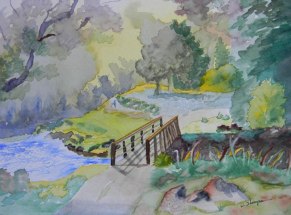 Bridge Near Enniskerry Ireland  Painting  - Bridge Near Enniskerry Ireland  Fine Art Print