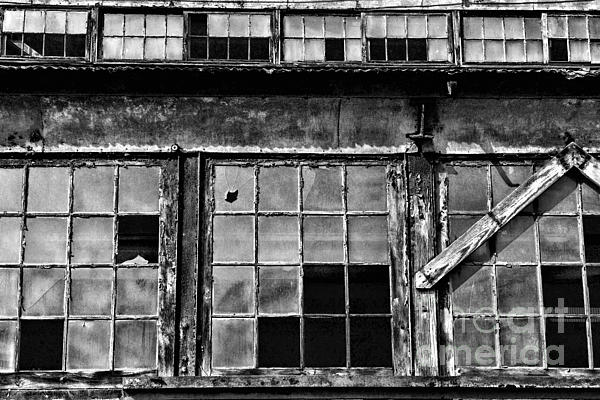 Paul Ward Photograph - Broken Windows In Black And White by Paul Ward