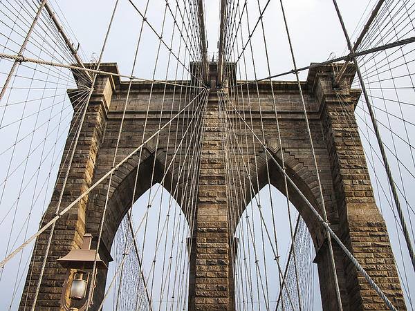 Brooklyn Photograph - Brooklyn Bridge Tower by Frank Winters