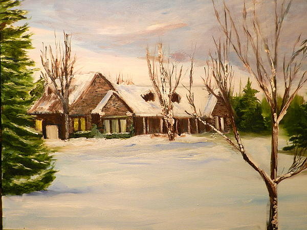 Winter House  Painting - Bungaglo  by Ian Rigby