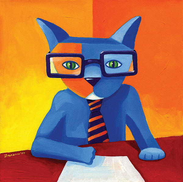 Business Cat Painting