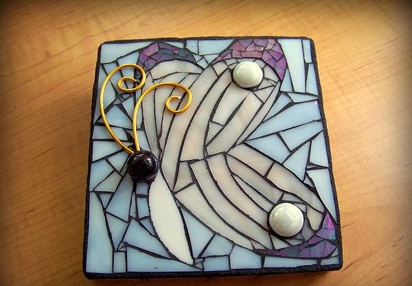 Insect Glass Art - Butterfly Mosaic by Melissa McIntyre