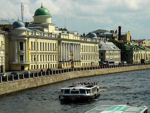 Europe Photograph - Canal And Historic Buildings Saint Petersburg Russia by Robert Ford