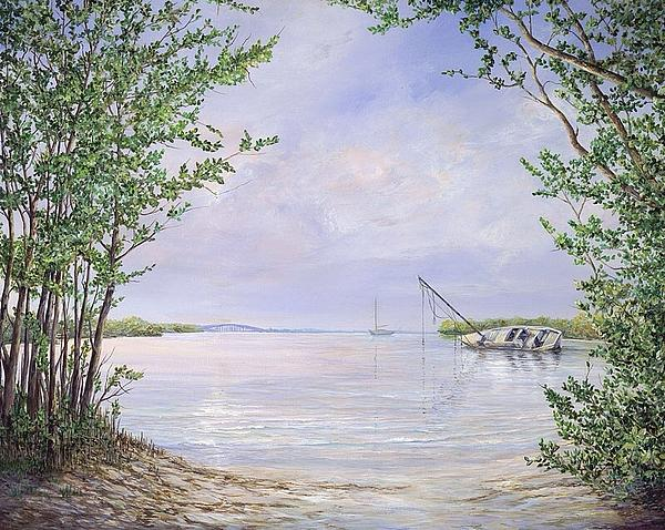 Canaveral Painting - Canaveral Cove by AnnaJo Vahle