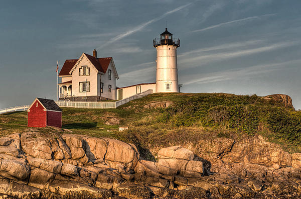 Cape Neddick Photograph - Cape Neddick Lighthouse In Evening Light by At Lands End Photography