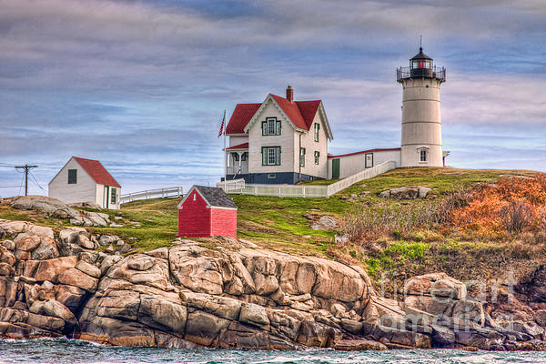 America Photograph - Cape Neddick Nubble Lighthouse II by Clarence Holmes