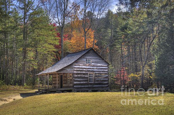 Smoky Mountain Photograph - Carter-shields Cabin by Crystal Nederman