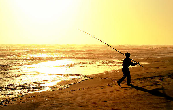 Fishing Glass Art - Catching The Last Rays... by A Rey