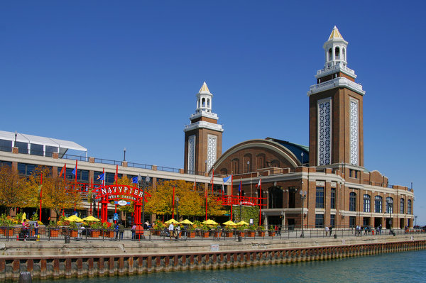 Navy Photograph - Chicago Navy Pier Headhouse by Christine Till