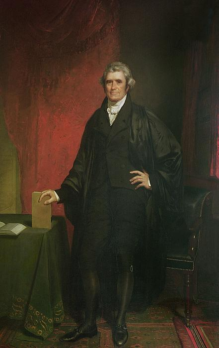 Portrait Painting - Chief Justice Marshall by Chester Harding