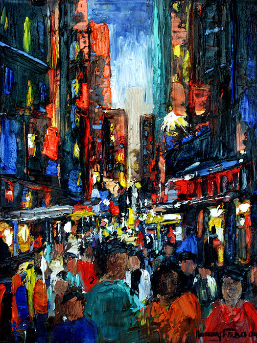 China Town Framed Prints Painting - China Town by Anthony Falbo