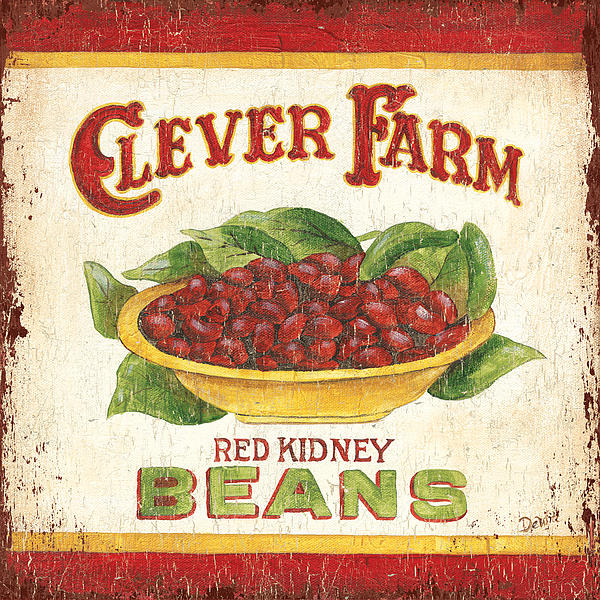 Kitchen Painting - Clever Farms Beans by Debbie DeWitt