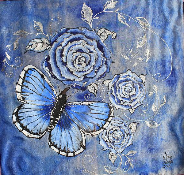 Butterfly Painting - Cloud Garden by Nora Padar