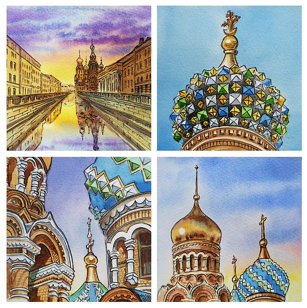 Russia Painting - Colors Of Russia Church Of Our Savior On The Spilled Blood  by Irina Sztukowski