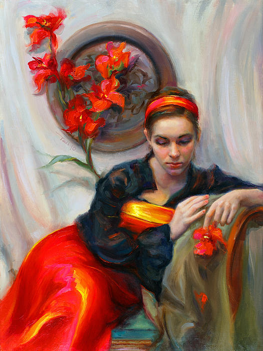 Talya Johnson - Common Threads - Divine Feminine in silk red dress
