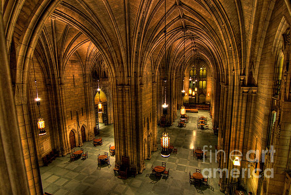 Allegheny County Photograph - Commons Room Cathedral Of Learning University Of Pittsburgh by Amy Cicconi