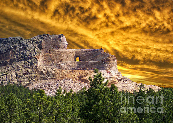 Crazy Horse Memorial South Dakota Photograph  - Crazy Horse Memorial South Dakota Fine Art Print