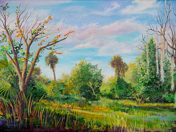 Landscape Painting - Crocket Road by AnnaJo Vahle