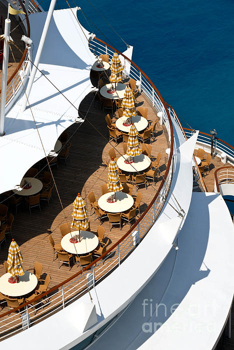 Aft Photograph - Cruise Ship Symmetry by Amy Cicconi