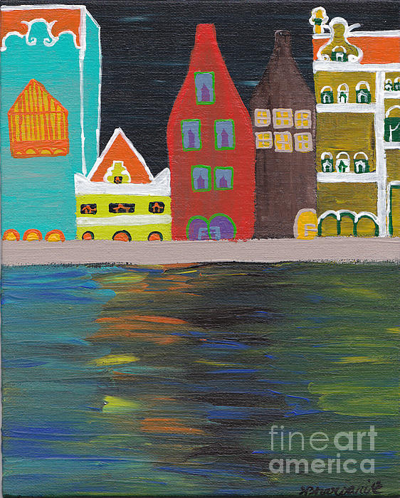 Curacao Nights Painting  - Curacao Nights Fine Art Print