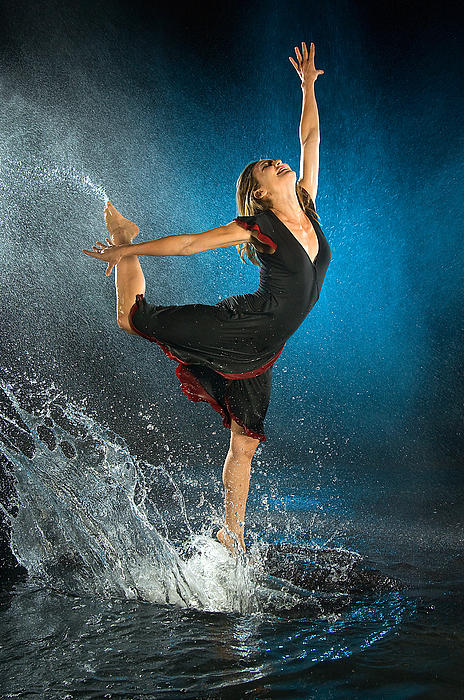 Dance Photograph - Dancing In The Rain by Adam Chilson