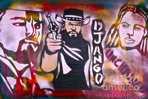 Hip Hop Painting - Django Blood Red by Tony B Conscious