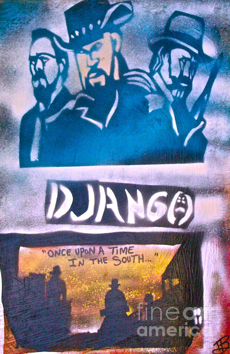 Hip Hop Painting - Django Once Upon A Time by Tony B Conscious