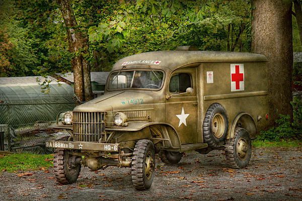 Ambulance Photograph - Doctor - Mash Unit  by Mike Savad