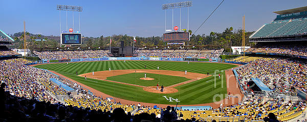 Dodger Stadium Panorama Photograph  - Dodger Stadium Panorama Fine Art Print