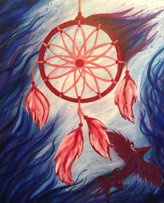 Dream catcher painting by jessica bassett for Dream catcher spray painting