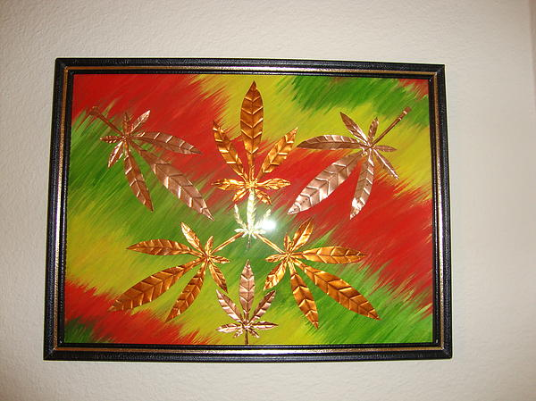 Water Color Mixed Media - Dream Leaves Four by Scott Faucett