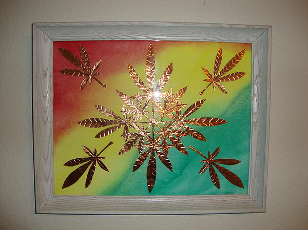 Red Mixed Media - Dream Leaves One by Scott Faucett